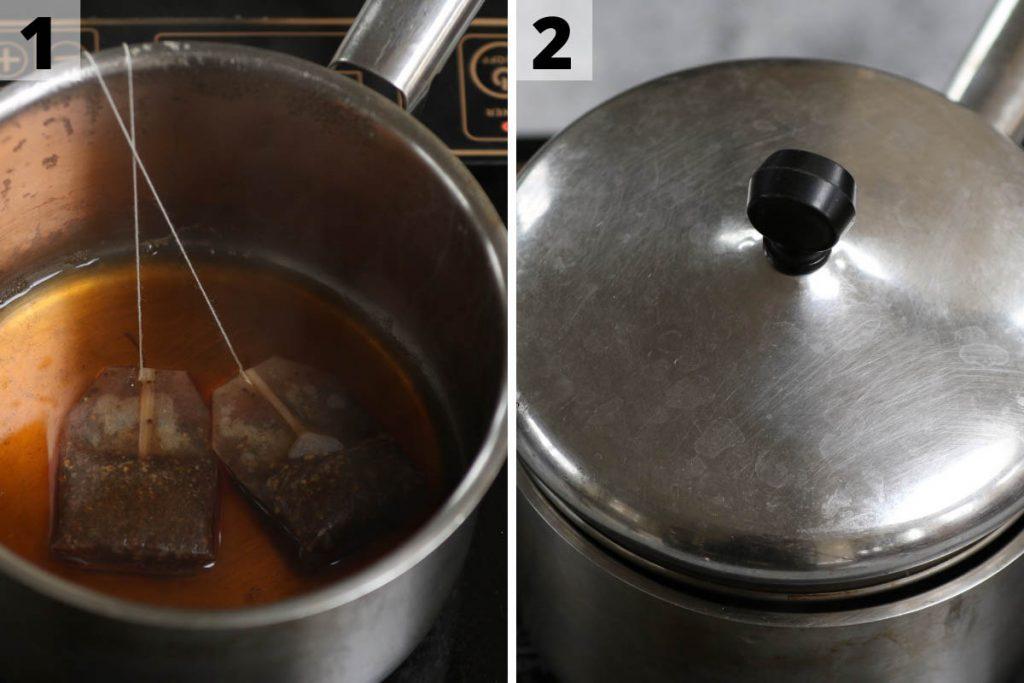 Chai Tea Latte recipe: step 1 and 2 photos.