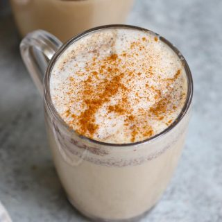 This homemade Starbucks copycat Chai Tea Latte gives you all the delicious flavor of the store-bought drink at the fraction of the price. It's a caffeinated latte that makes the perfect warm drink on a cool day, and equally as good iced too. You can now save money and make this easy recipe at home with a few simple ingredients.