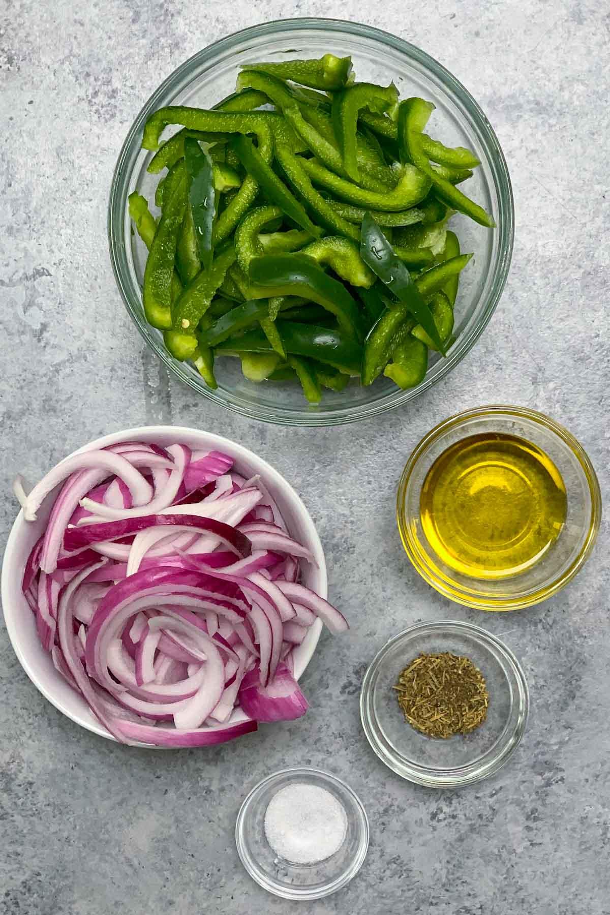 Fajita Veggies Recipe ingredients on the counter
