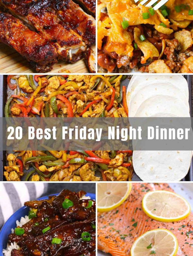 These 20 Easy Friday Night Dinner Ideas will wrap up your work week and kick off the weekend with the best delicious recipes. No more frozen pizza or restaurant take-out. Stir-frys, meatloaf, casseroles, tacos, lasagna...all lie ahead.