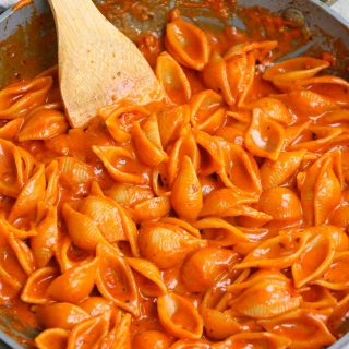 Gigi Hadid Pasta is creamy, cheesy, spicy, mouth-watering, and has taken the internet by storm. Model Gigi Hadid might be known for her talents on the runway, but she certainly rocks the kitchen too. Her simple pasta recipe went viral after she posted it on Tiktok and Instagram, and I promise you it's worth the hype. Keep reading to find out how to make Gigi Hadid's Spicy Vodka Sauce (spice and vodka optional).