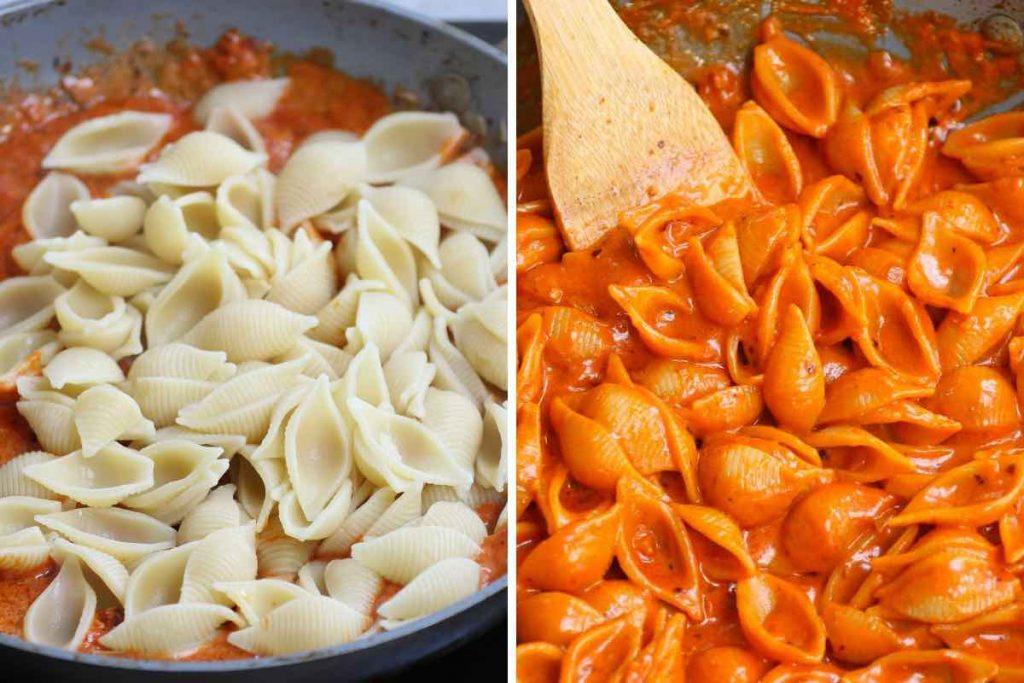 Gigi Hadid Pasta step 3: mix everything