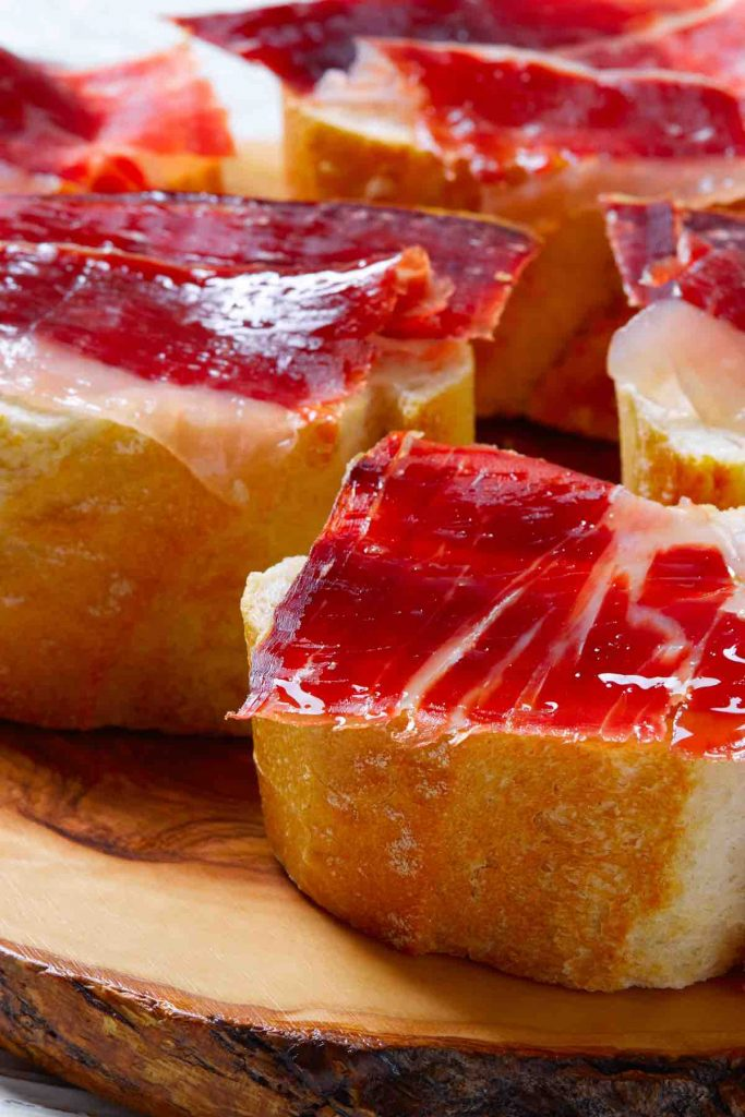 Iberian Ham on Bread