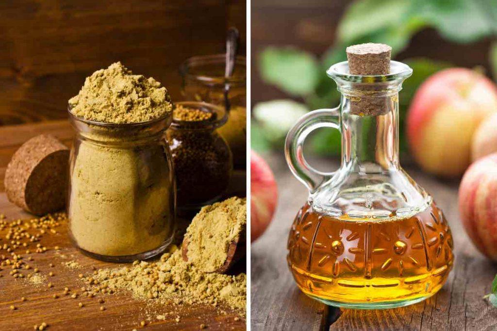 Mustard Powder + Vinegar