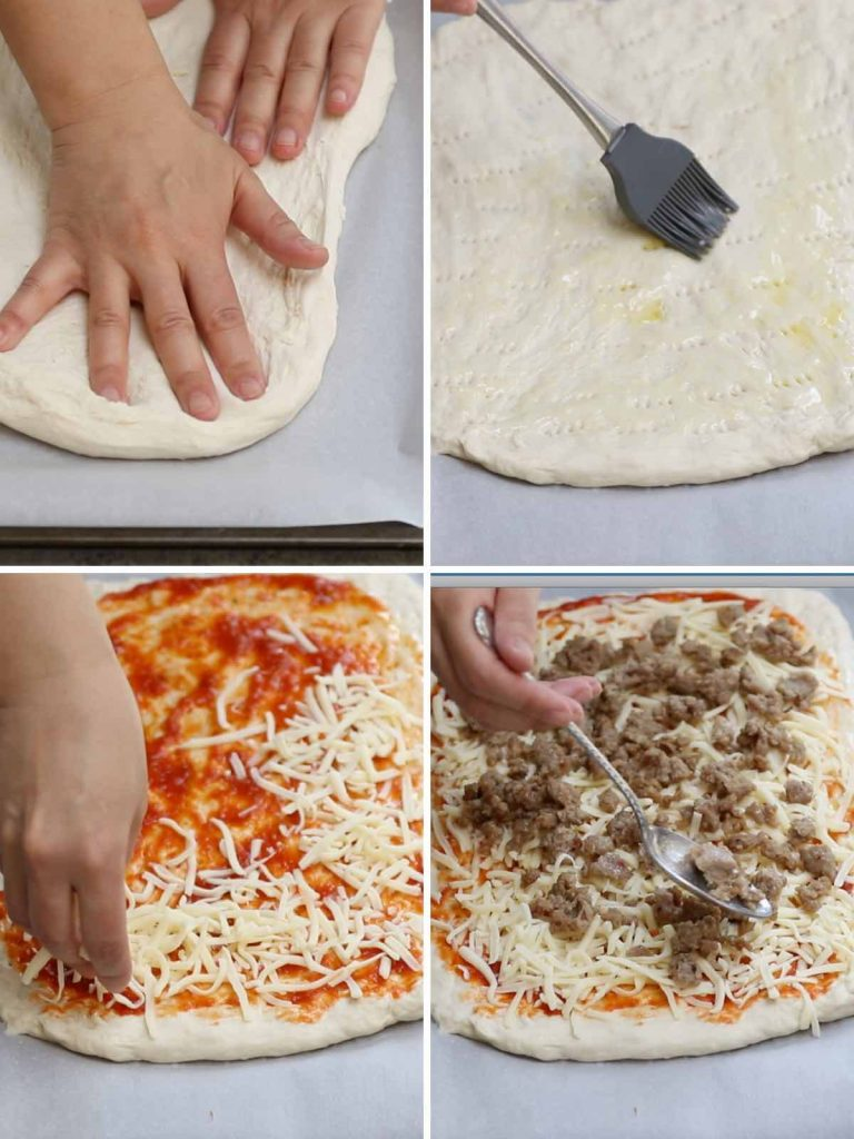 If you're searching for a nostalgic meal, it doesn't get any better than Old School Cafeteria Pizza. Remember when Friday was Pizza Day and the cafeteria ladies would serve up rectangular slices of cheesy, doughy pizza? Now, you can recreate this classic School Pizza at home, or customize it with your favorite add-ins and make it into school breakfast pizza or school lunch pizza.