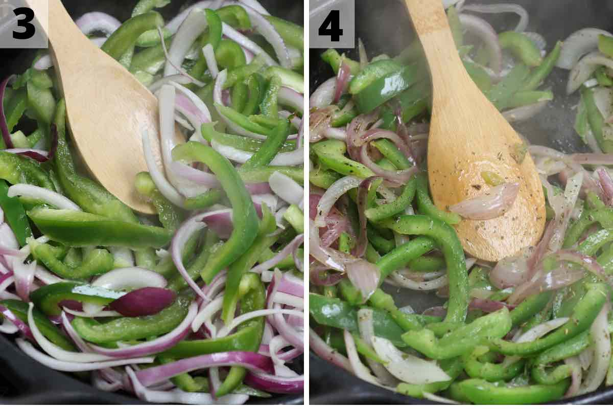 Chipotle Fajita Veggies Recipe: Step 3 and 4 photos.