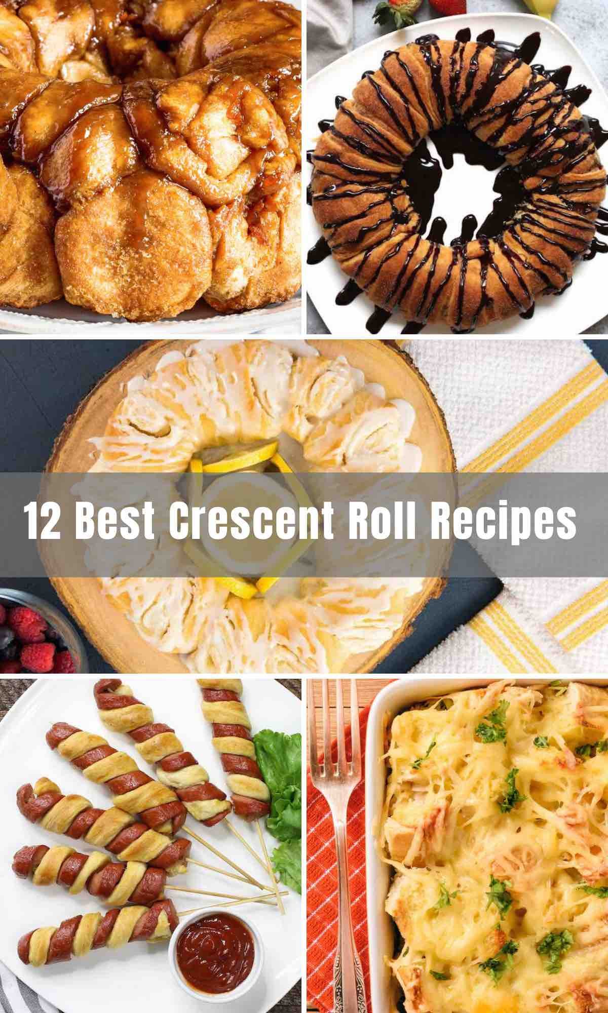 For years we've loved the crescent rolls. Now we're able to take these rolls to the next level, making quick and easy recipes with refrigerated Pillsbury Crescent Rolls. Get creative and enjoy them from breakfast, lunch, or dinner! Below you will find the 12 best delicious Crescent Roll Recipes that will have you fall in love with crescent rolls all over again.