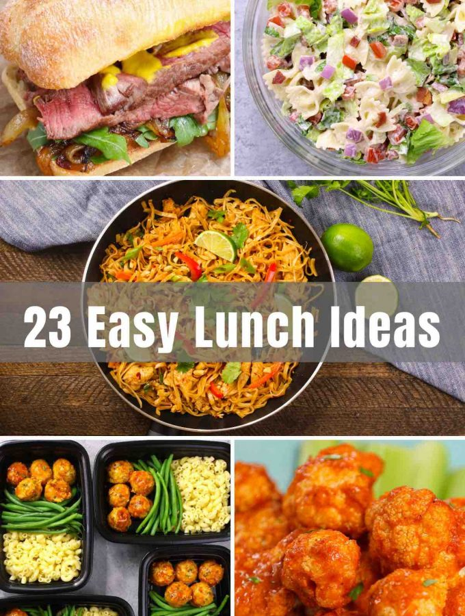 We've rounded up 23 Best and Easy Lunch Ideas! From healthy lunch recipes to lunch for the kids, to meal prep ideas - we've got you covered.