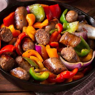 Italian Sausage and Vegetables are one of my favorite ground sausage recipes. It's loaded with ground sausage, colorful veggies, and full of flavor!