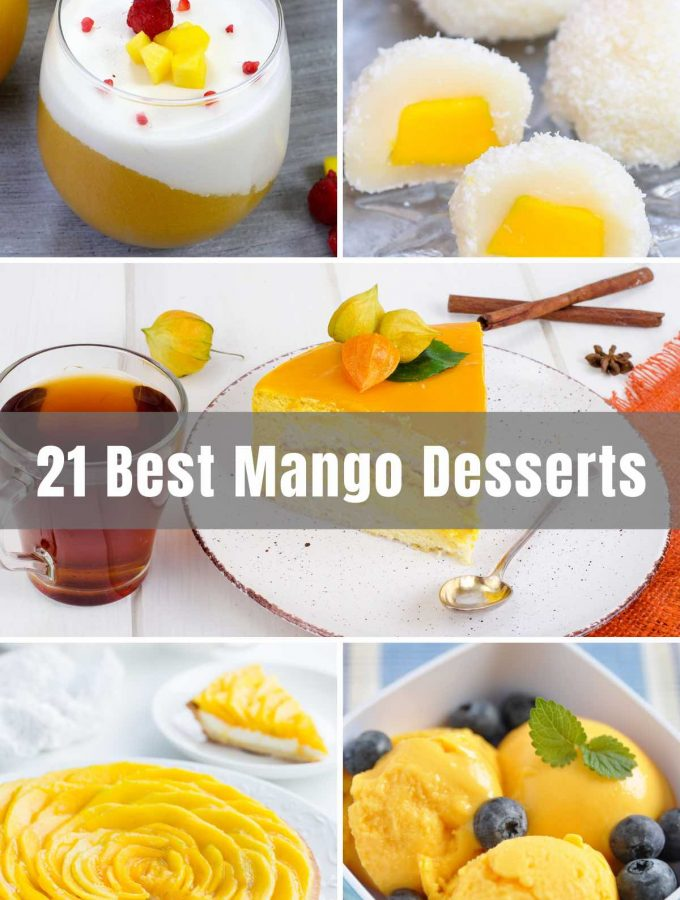 Mango is not only delicious but also incredibly nutritious and healthy. These 21 best Mango Dessert Recipes will bring all that mango magnificence to your kitchen table!! We'll give you the traditional mango goodness through pudding and pie, but we'll also take you on a cultural trip around the world with Mango Panna Cotta, Mango Mochi, Mango Lassi, and Mango Phirini.
