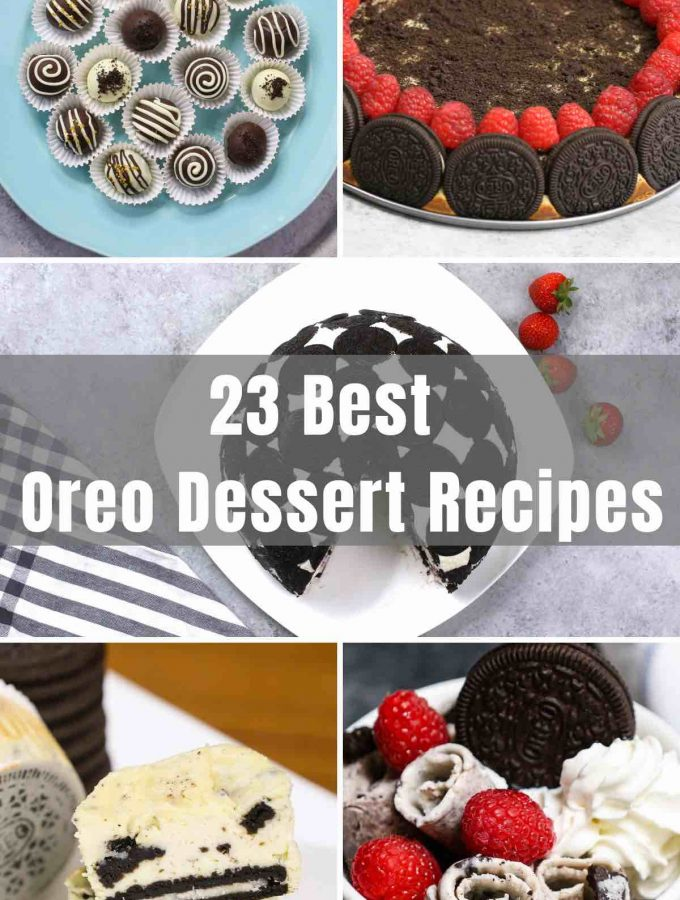 Desserts made with Oreos are impossible to resist! You can make them with or without cream cheese. From Oreo Cheesecake to No Bake Oreo Balls, we've rounded up the very best Oreo Desserts that are well worth the indulgence! Oreo = OH MY!