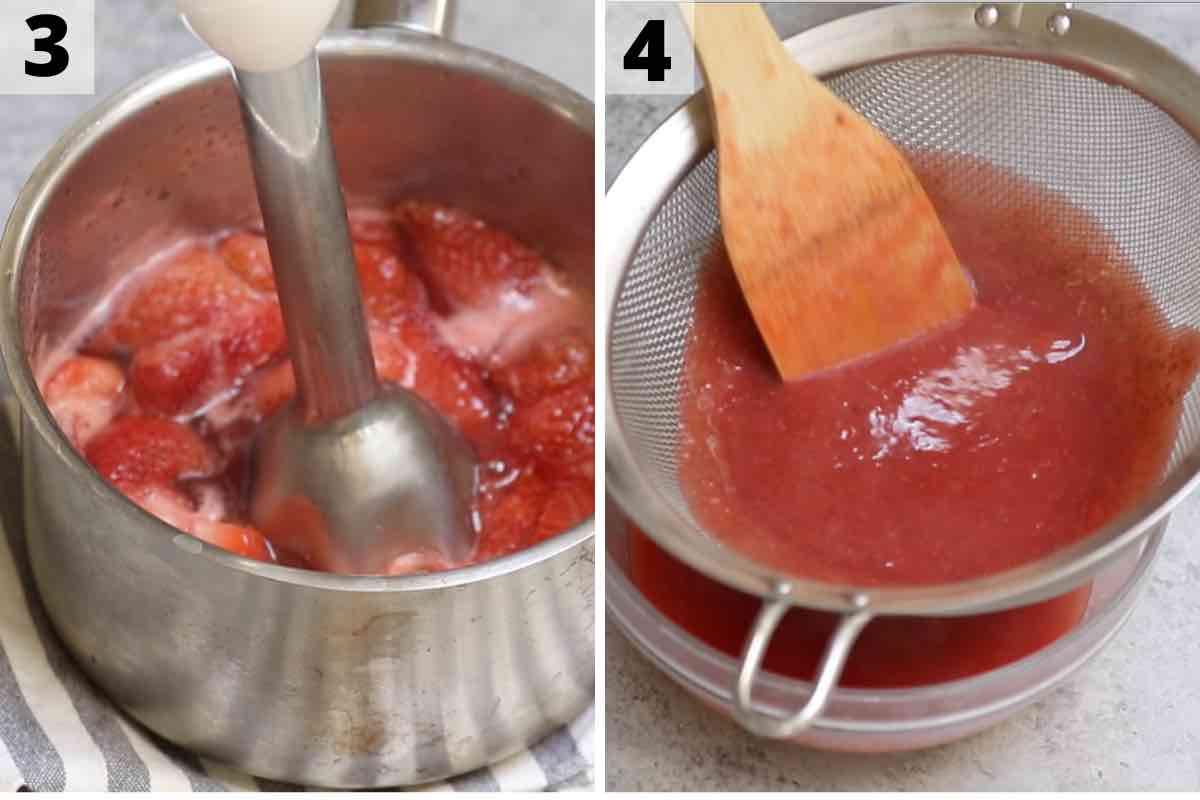 Strawberry Glaze recipe step 3 and 4 photos.