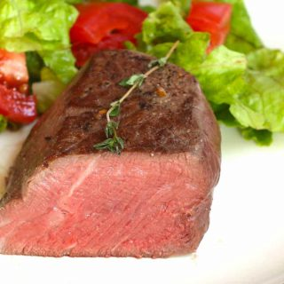Filet Mignon is one of my favorite dinner ideas for two. This recipe makes the most tender and juicy steak with a beautiful caramelized crust!