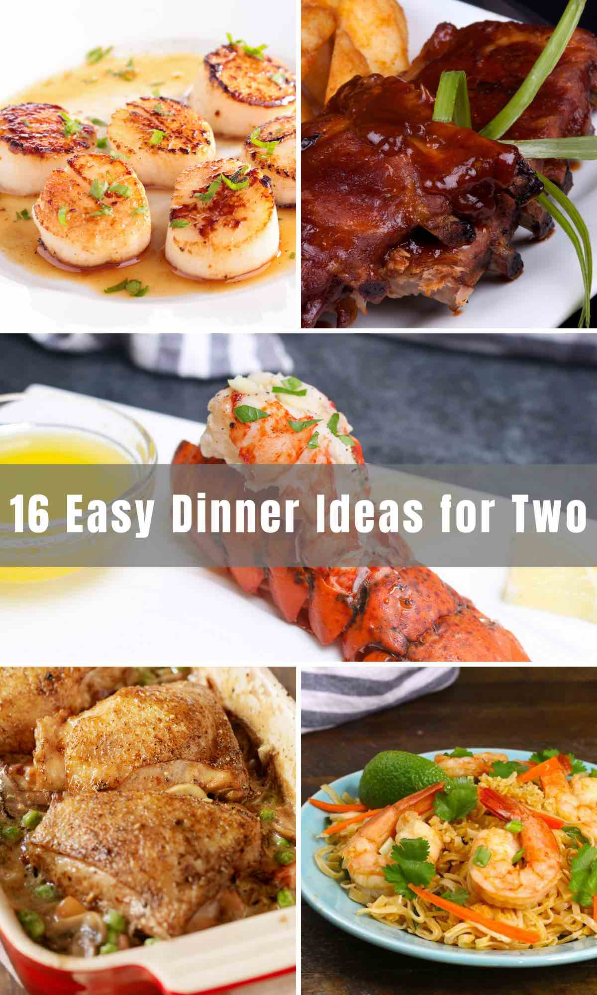 If you're planning a cozy night at home, these Easy Dinner Ideas for Two are perfect for cooking your own date-night meal. From healthy to comforting to completely indulgent, you'll find some dishes below that will satisfy both you and your date! For more Valentine's or anniversary dinner recipes, check out our Romantic Dinner Ideas and Fancy Dessert Recipes.