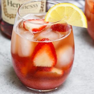 Strawberry Hennessy is one of the greatest cocktail recipes that are so easy to make. Made with cognac, champagne, and strawberry syrup, this drink is our favorite!