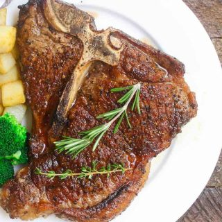 T-Bone Steak is tender, juicy, and flavor. It's one of the best birthday dinner recipes and so easy to make at home.