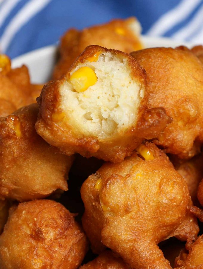 If you like corn fritters, you'll love these Homemade Crispy Corn Nuggets. Make a quick batter by combining fresh or canned corn with a few kitchen staples, then fry them to golden perfection. This Southern fried corn nugget recipe is perfect for an appetizer, dessert, or side dish.
