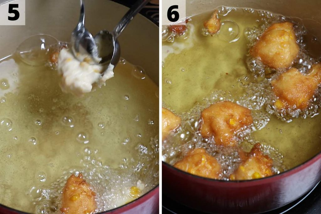 Corn Nuggets Step 5 and 6 Photos