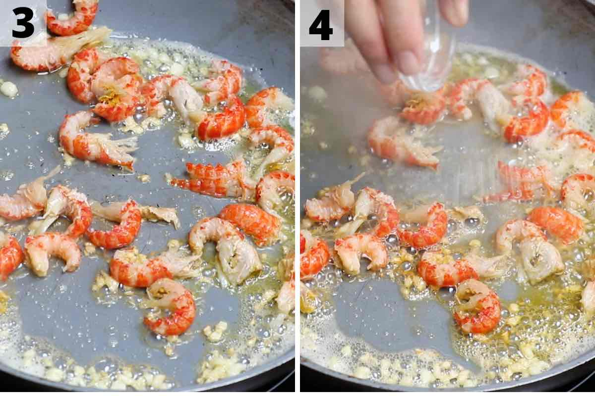 Crawfish Tails Process 3 and 4