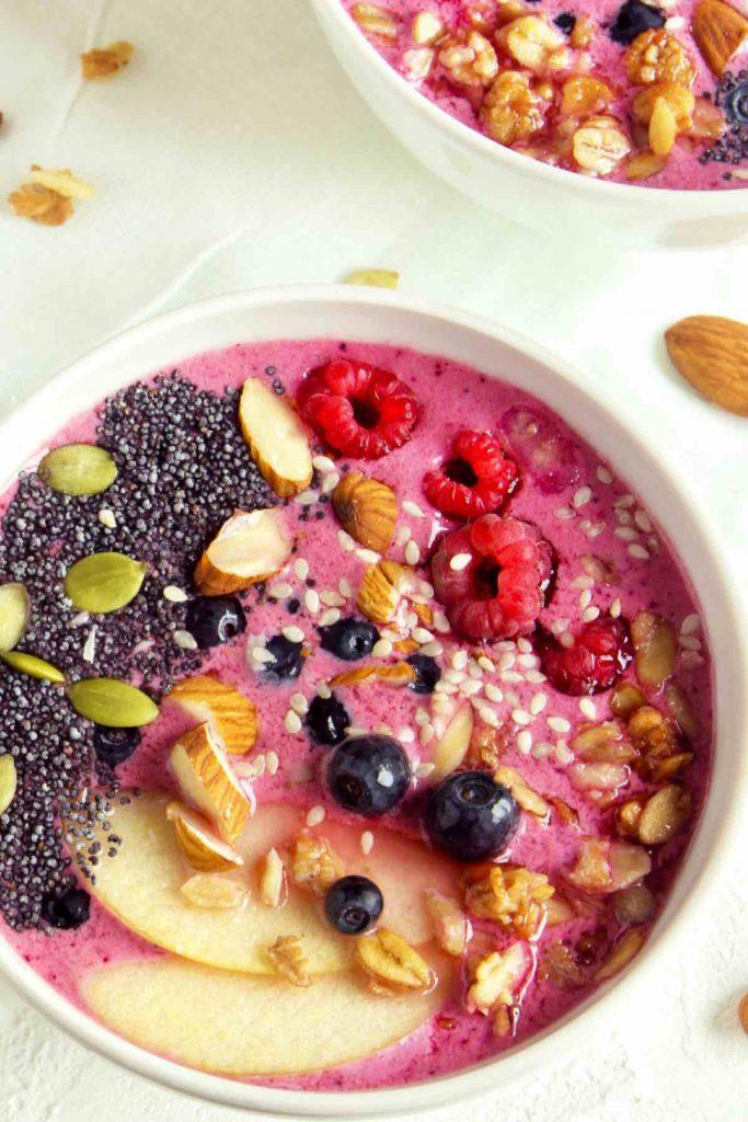 Frozen Fruit Smoothie Bowl