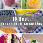 Is there anything more refreshing than delicious frozen fruit smoothies on a hot summer's day? We've collected 18 Easy Frozen Fruit Smoothie Recipes using different types of frozen fruits from strawberries to mixed berries, banana, mango, and so much more.