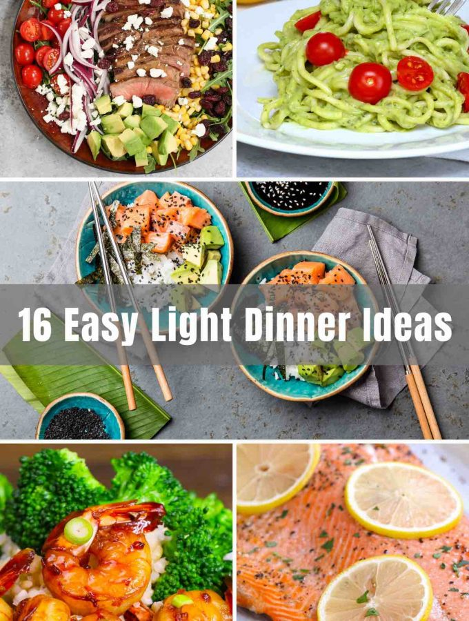 Are you looking for healthy but satisfying meals that will make your feel good? Below you will find 16 Easy Light Dinner Ideas that your family will love. These simple recipes are super simple and fast to make. Go on, give them a try tonight, you're promised delicious meals with incredible results!!