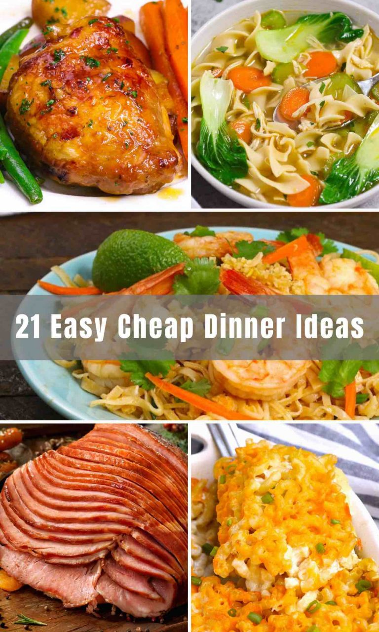 When it comes to food, a budget-friendly dinner doesn't have to be boring! We've rounded up 21 Cheap Dinner Ideas that are easy to make at home. So beyond ramen noodles and try a few of these delicious and affordable dinner recipes.