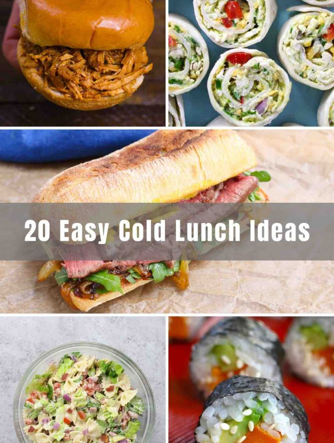 bored of the same lunches every day? Whatever the reason, you've stopped in the right place! Here you will find 20 Easy Cold Lunch Ideas for both kids and adults! Whether it's healthy or hearty you're searching for - you'll find it here!