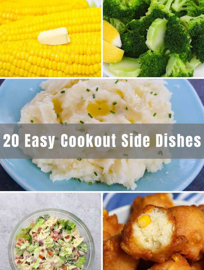 Is there anything better than the smell of freshly BBQ'd hamburgers and hotdogs? Summer cookouts are full of enjoyable moments, great memories, and delicious food! Below you will find 20 Easy Cookout Side Dishes to bring to your next gathering and feed as many people as you'd like!