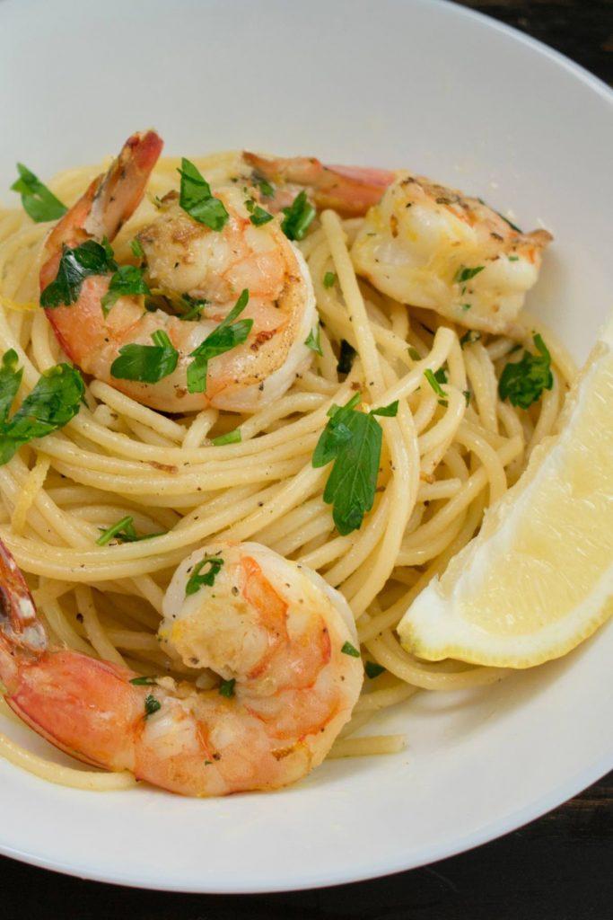 Garlic Butter Shrimp Spaghetti