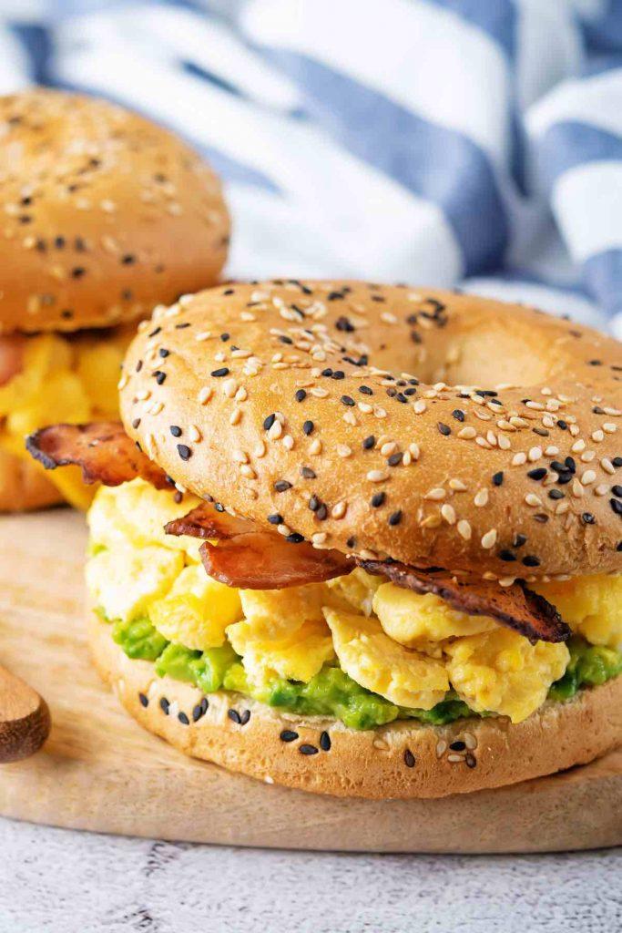 Bacon, egg and avocado Sandwich