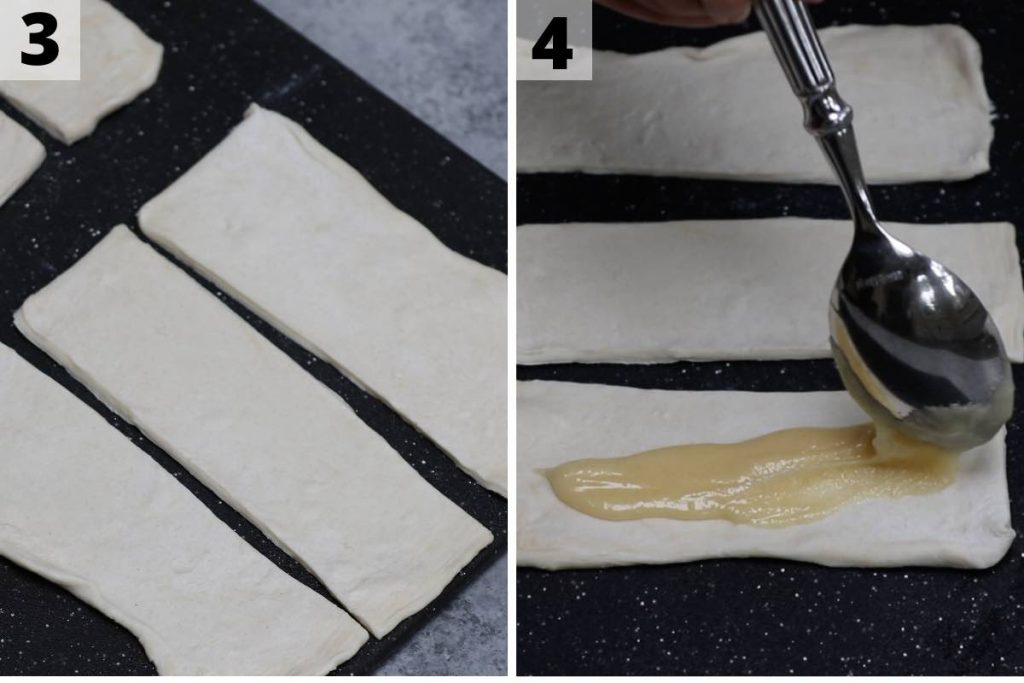Bear Claw Recipe Process 3 and 4 Photos