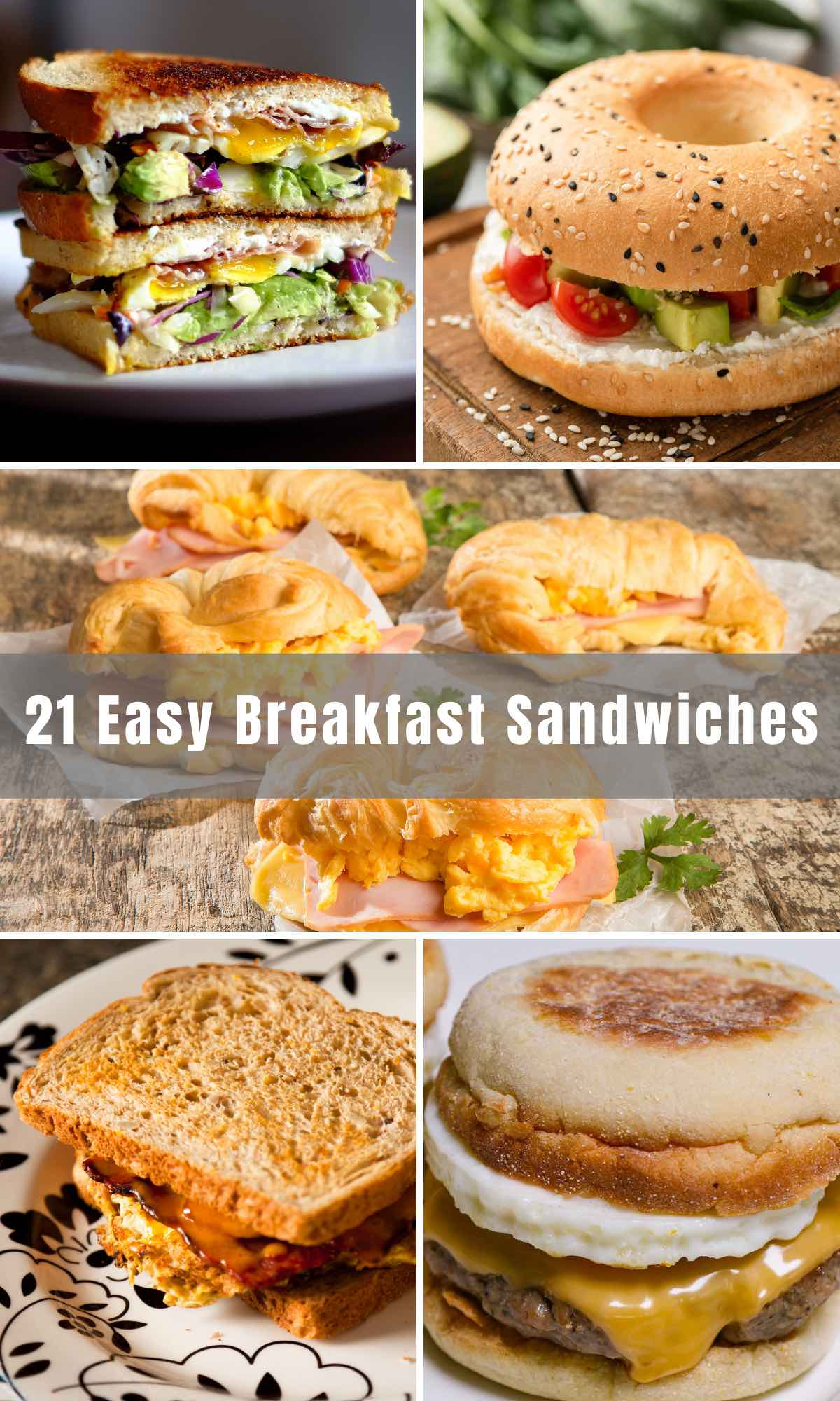 For busy mornings, a breakfast sandwich is the way to go. What's better than stacking all your favorite ingredients together for an easy, grab-and-go meal? We've rounded up the best Breakfast Sandwich Recipes, from simple bagel sandwiches to healthy vegetable sandwiches, to easy meals with delicious and wholesome ingredients like eggs, avocado and veggies