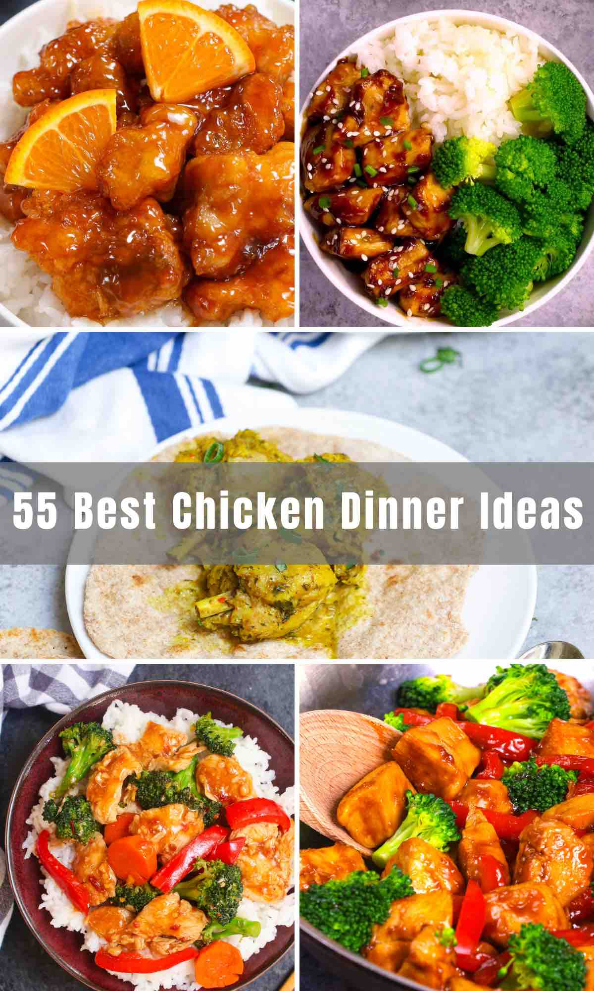 Chicken is a healthy and budget-friendly option for dinner. We've rounded up 55 Best Chicken Dinner Ideas for you to easily incorporate chicken breasts, chicken thighs, or chicken wings into your supper recipes. From chicken noodle soup to chicken tacos, and teriyaki chicken, so many delicious meals are here for you!