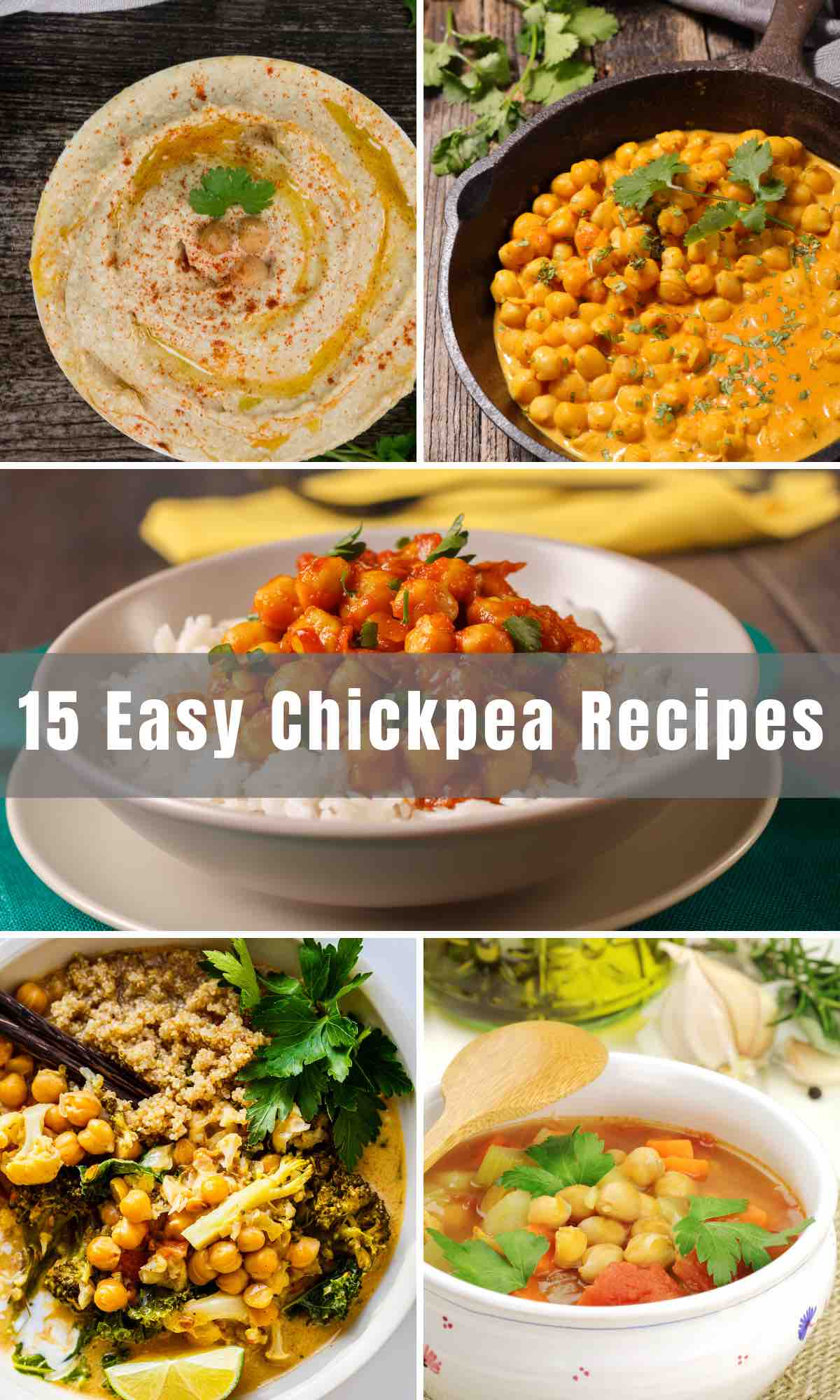 Here are 15 of the best Easy Garbanzo Bean Recipes for your to try! We're about to take the nutritious chickpeas to a whole new level! From salads to soups, hummus, and burgers- garbanzo beans are a perfect addition to many dishes.
