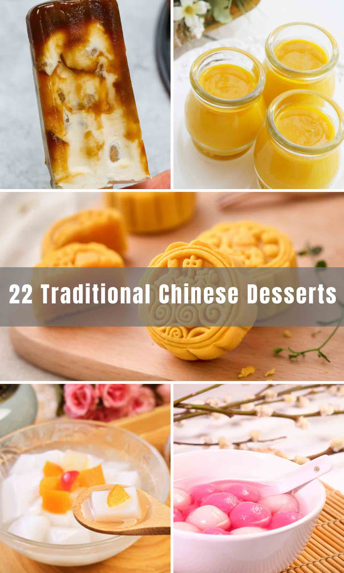 Besides the fortune cookies that come with takeout, there are many delicious Chinese treats that will expand your palate. We've rounded up 22 Traditional Chinese Desserts, from Red Bean Buns to Bubble Tea, Boba Ice Cream, Moon Cake and more.