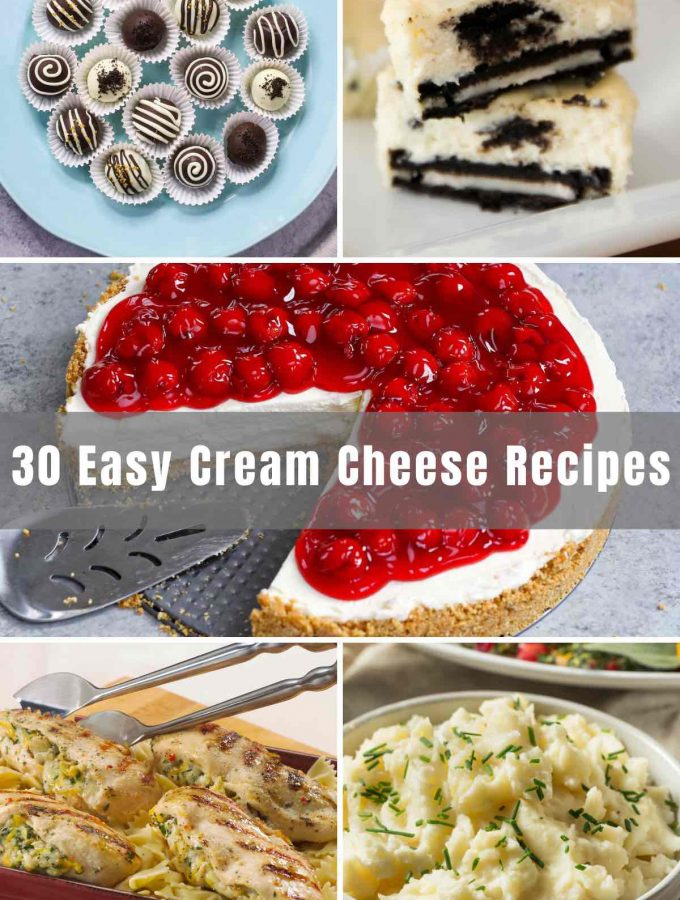 Are you looking to get more creative with cream cheese? How about using it in savory recipes like stuffed chicken or a casserole dish for dinner? Or in a delicious dessert? Below you will find 30 Easy Cream Cheese Recipes that will have you wondering which one to choose first!