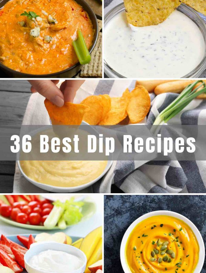 Looking for a quick and delicious dip for a potluck, party, or holiday gathering? We've rounded up 36 of the Best Dip recipes for you to win over any crowd! From Buffalo chicken dip to crab dip and spinach dip, you are sure to find something for your next party!