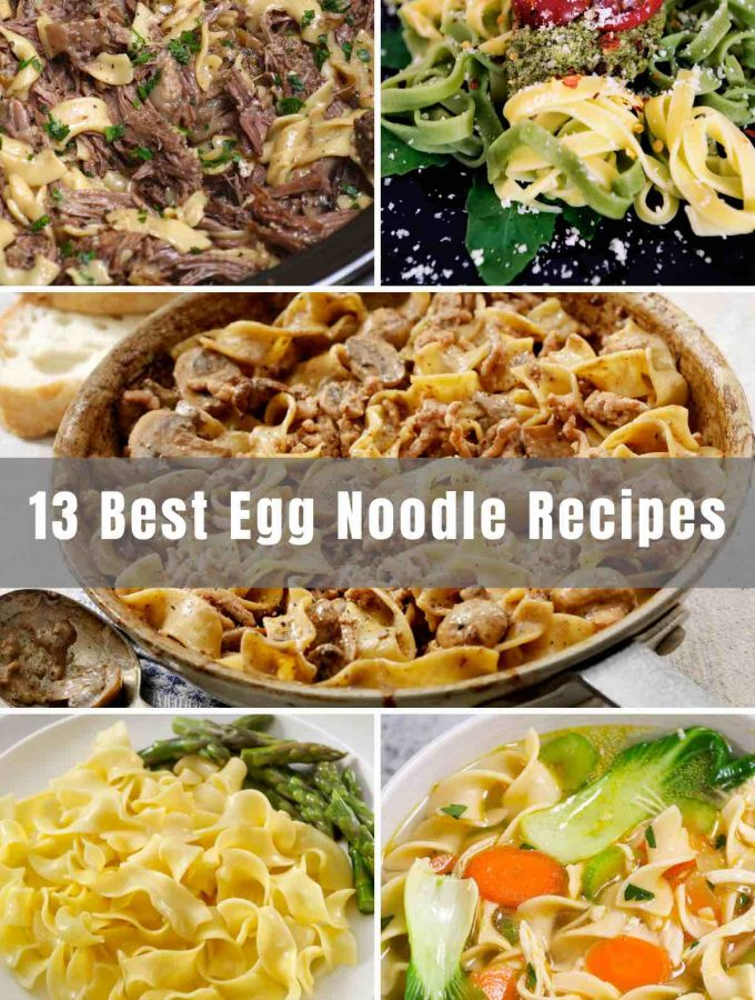 Egg Noodles are a delicious ingredient in many Asian cuisines. We've rounded up 13 of the Best Egg Noodle Recipes that are easy to make and loaded with flavors. From Lo Mein to chicken noodle soup and beef stroganoff, there's something you'd love to try for dinner tonight!