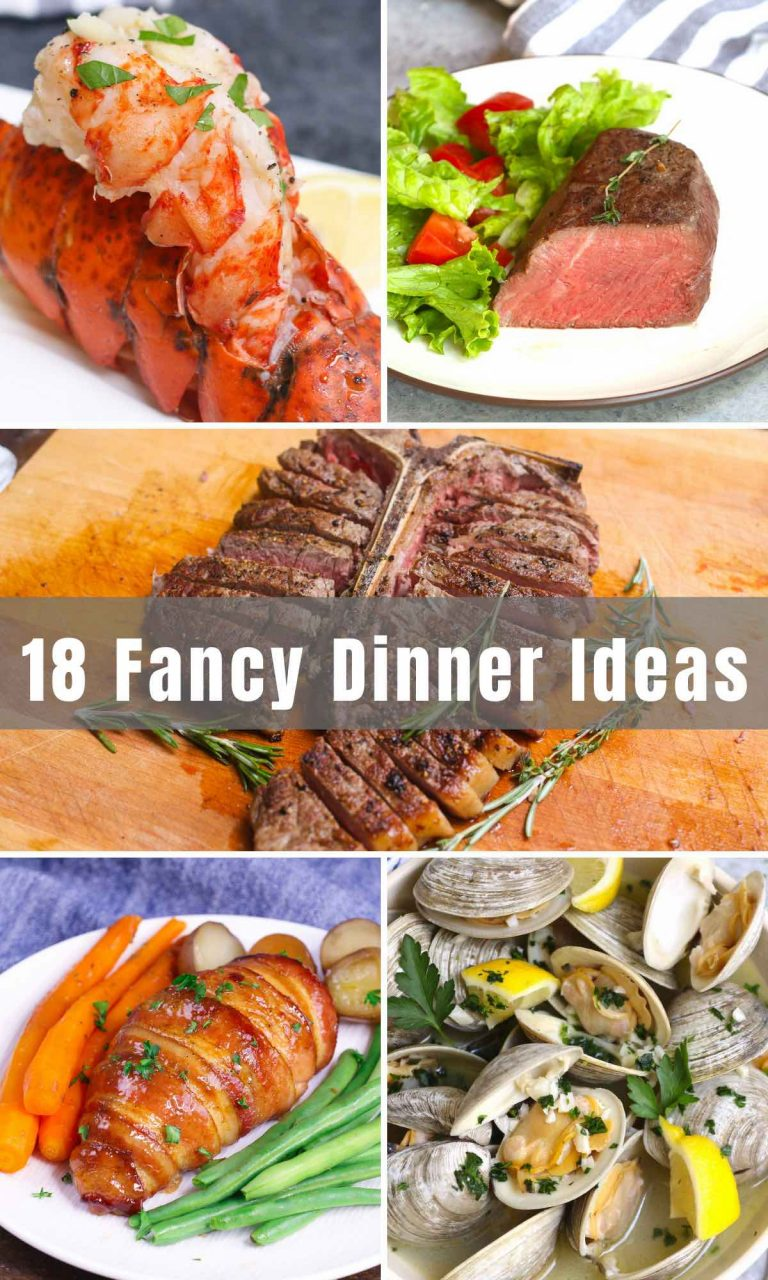 Whether you're surprising someone with a romantic dinner or celebrating an anniversary, you can create restaurant-quality recipes at home for less than half the cost. We've collected 18 easy but Fancy Dinner Ideas that you can make at home.