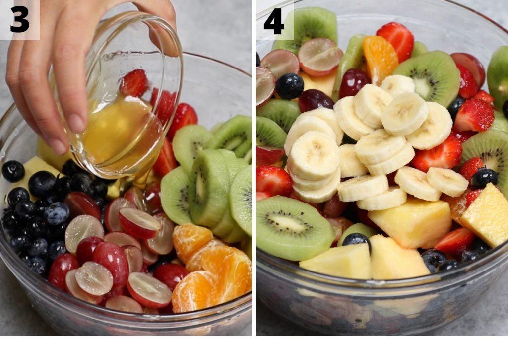 Fruit Cocktail Recipe process 3 and 4 photos.