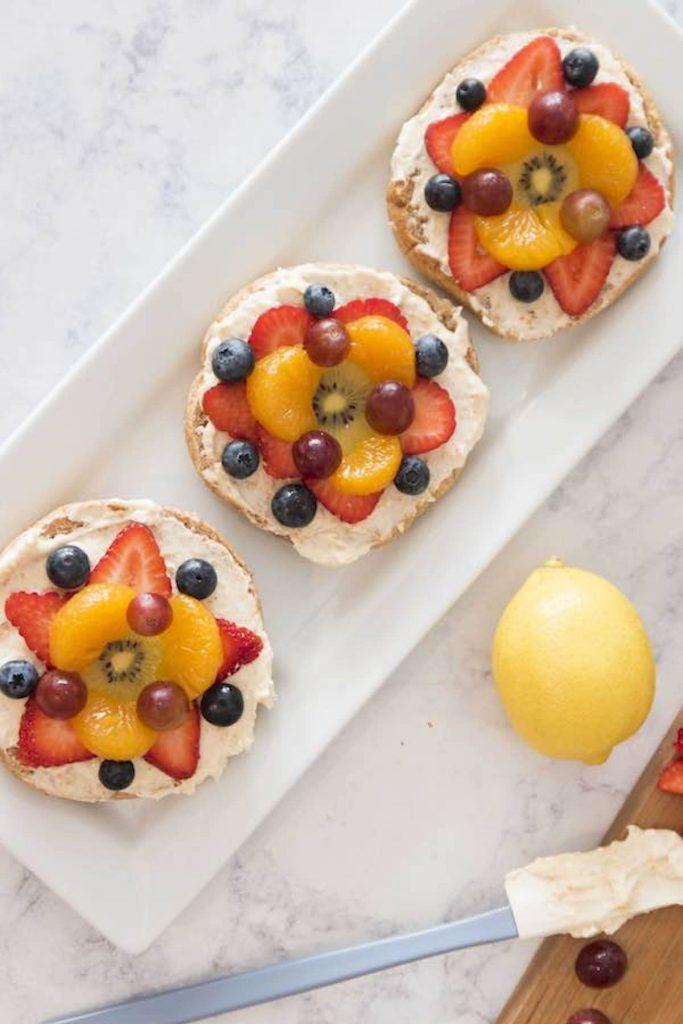 Fruity Bagel Pizza