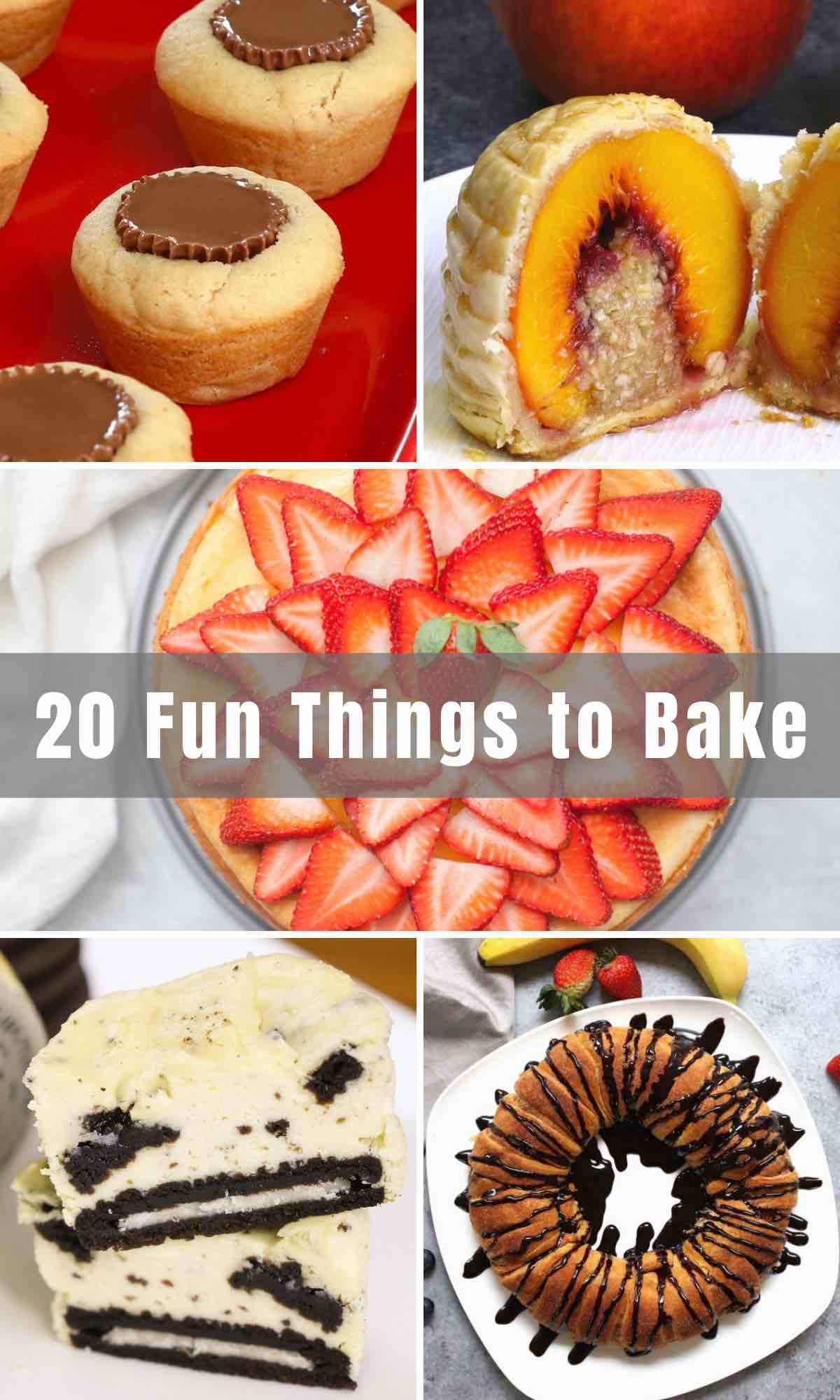 Whether you're a beginner baker or a pro, there comes a time when you look for some quick and easy sweet treats to satisfy your cravings. Below, you will find 20 Fun Things to Bake, especially when you're bored! These desserts are easy, quick and some only require a couple of ingredients. The best part? You'll get to enjoy anything you make, right away!