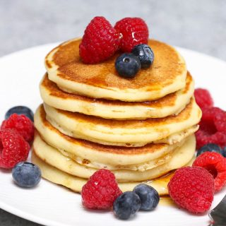 These Easy Griddle Cakes (Griddle Pancakes) are light and fluffy – a classic breakfast food that calls for a few simple ingredients. This recipe provides step-by-step instructions for cooking the batter on an electric griddle. You can serve them with maple syrup, jam, or fruits for a delicious meal!