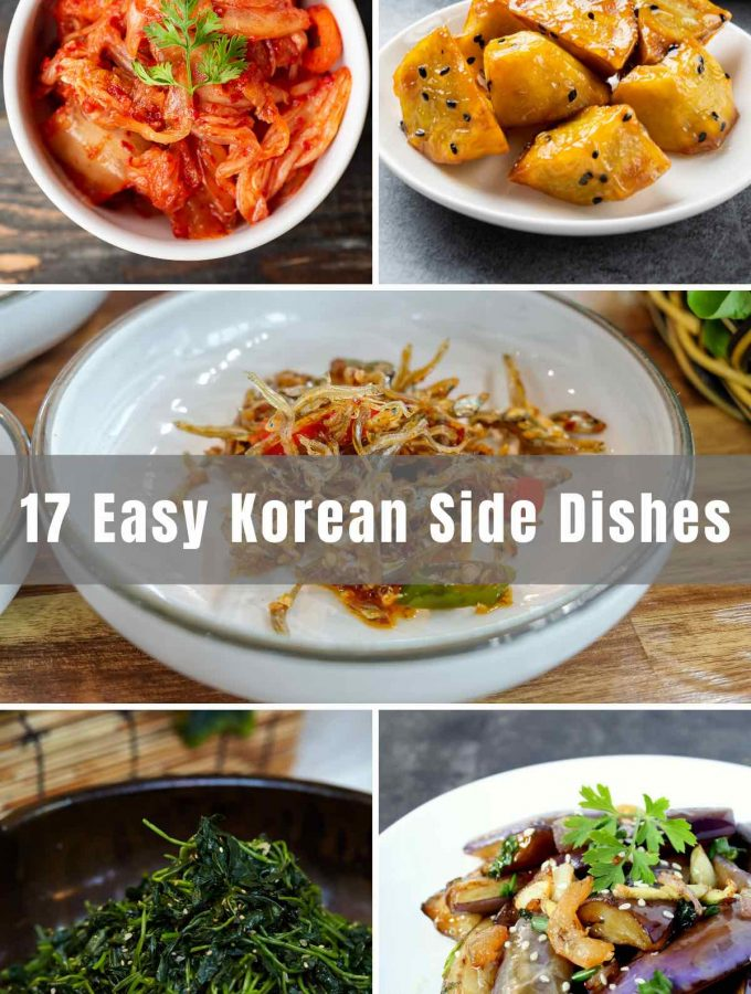 We've collected 17 Easy Korean Side Dishes that you can serve when you want to have Korean food. From vegetable banchan to Kimchi and candied sweet potatoes, we've listed all the popular Korean side dish recipes below.