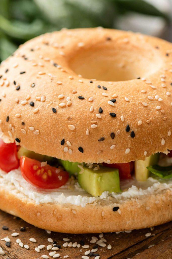 Microwave Vegetable Breakfast Sandwich
