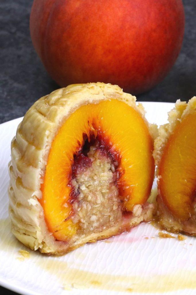 Puff Pastry Peach Cobbler