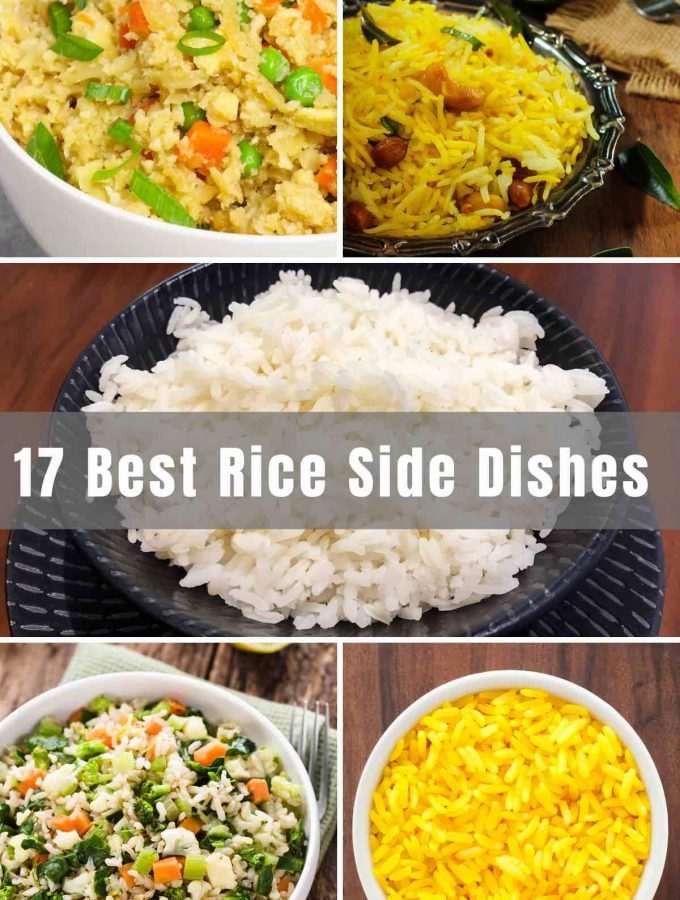 As a side dish, rice can be the perfect finishing touch for almost any meal. This versatile carb can be seasoned, spiced, and combined with other ingredients for exciting and interesting meals. Get inspired with these 17 delicious and unique Rice Side Dishes for pork, chicken, fish, and more!