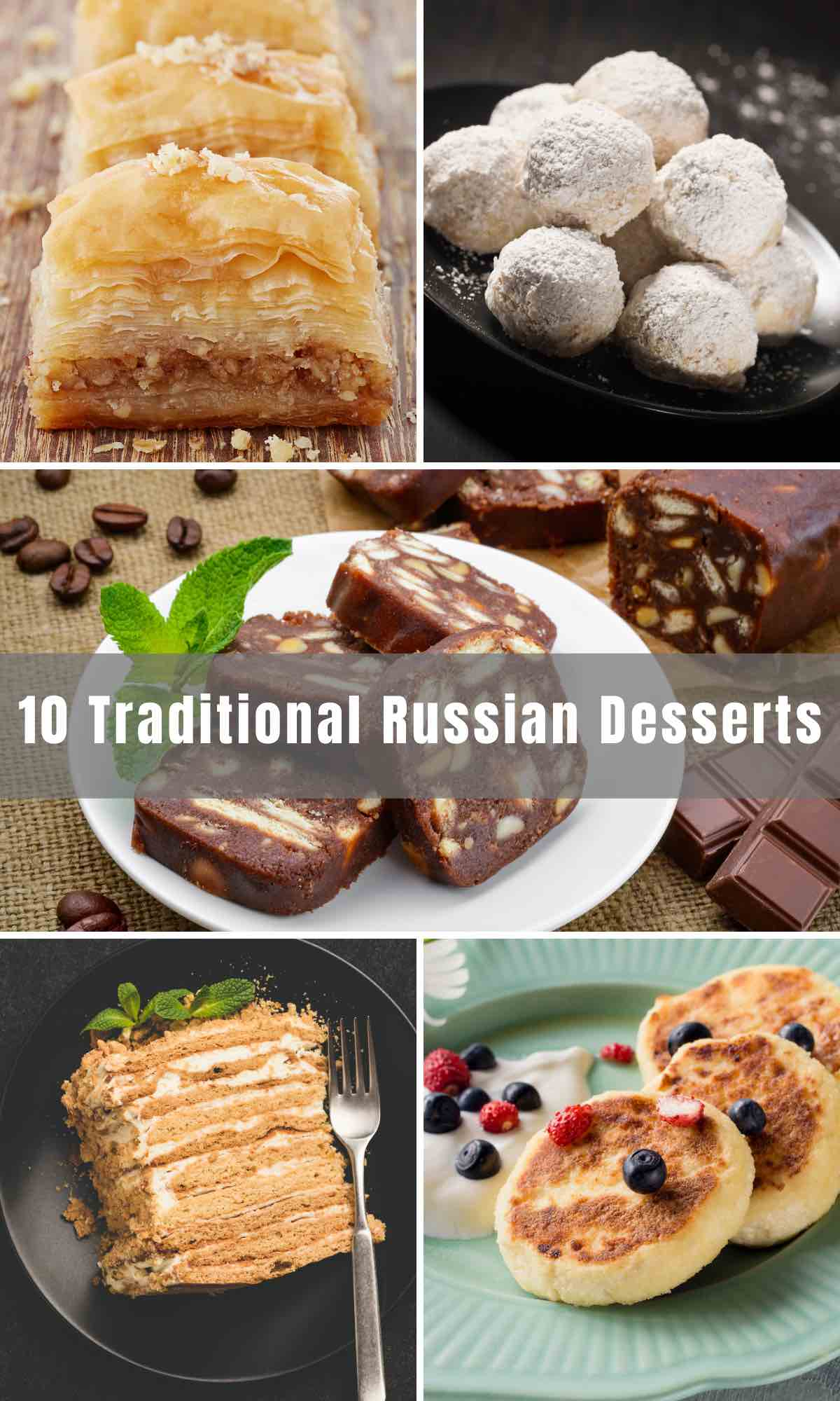 Want to take your sweet tooth on a journey? Look no further than these easy Traditional Russian Desserts that can be made at home. Russians love their desserts! From cakes to chocolates to truffles, Russians have a variety of irresistible confections to end your meal on a high note.