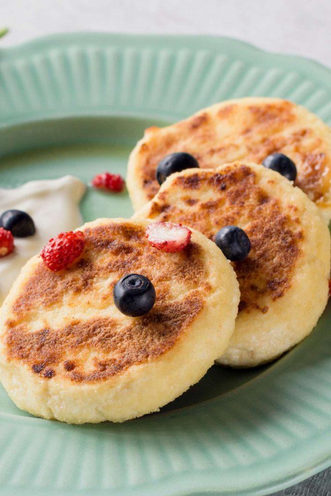 Syrniki Russian Cheese Pancakes